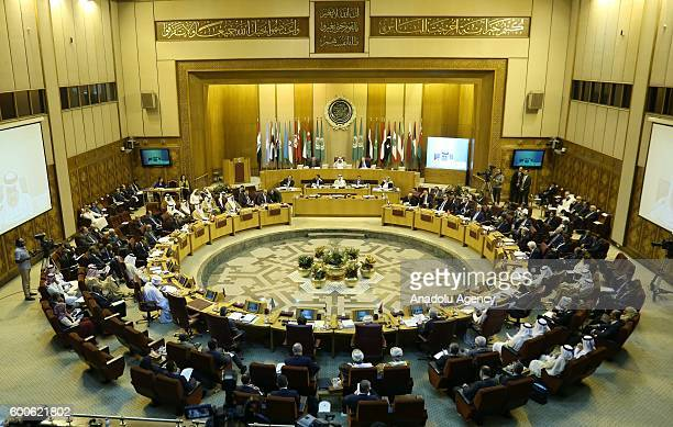 146th Foreign Ministers meeting is held at the Arab League headquarters in Cairo Egypt on September 8 2016
