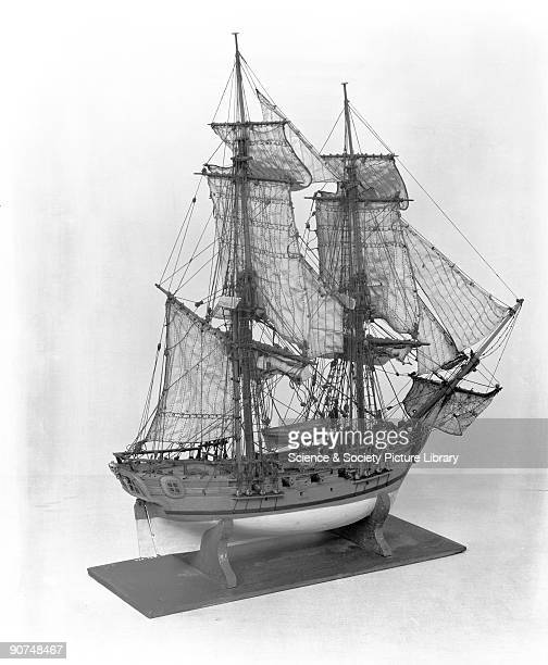 14gun sloop c 1711 Contemporary rigged model with snowrigged bow
