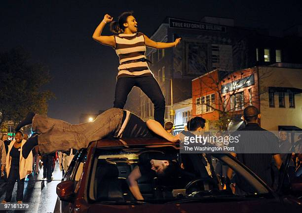 14th and U in DC Obama celebration at 14th and U NW In the wee hours of Wednesday morning Selam Xavier dances on the car of Andrew Wilkinson who's...