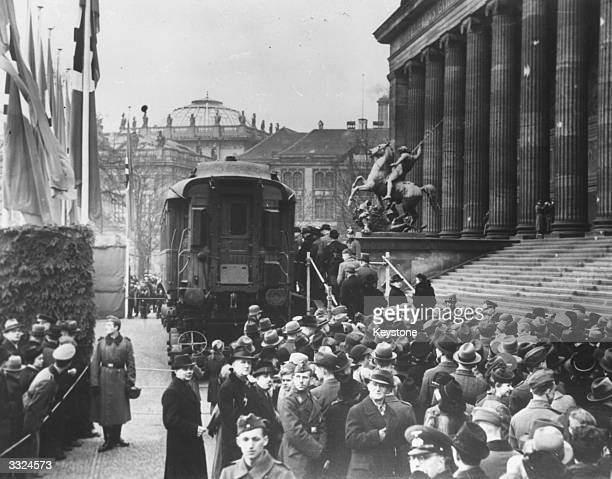 The armistice railway carriage in Berlin where the Vichy government of France signed an agreement with Germany after the German defeat of France in...