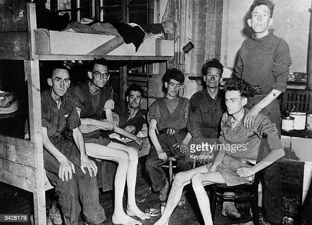 British prisoners of war at a hospital in the German town of Getting after it was liberated by the 2nd Division of the 1st US Army