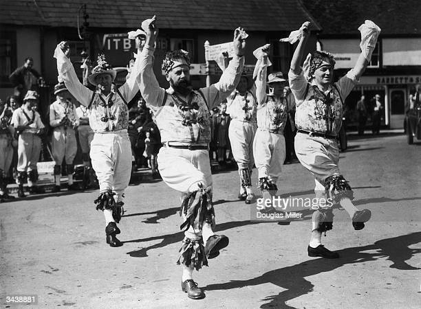 The Morris dancers of Thaxted give their annual Easter performance in Essex.