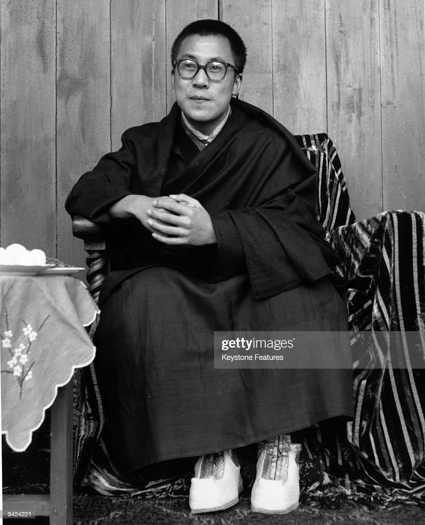 The 14th Dalai Lama, Tenzin Gyatso, who lives in exile in India and leads the non-violent campaign of opposition to Chinese rule in Tibet.