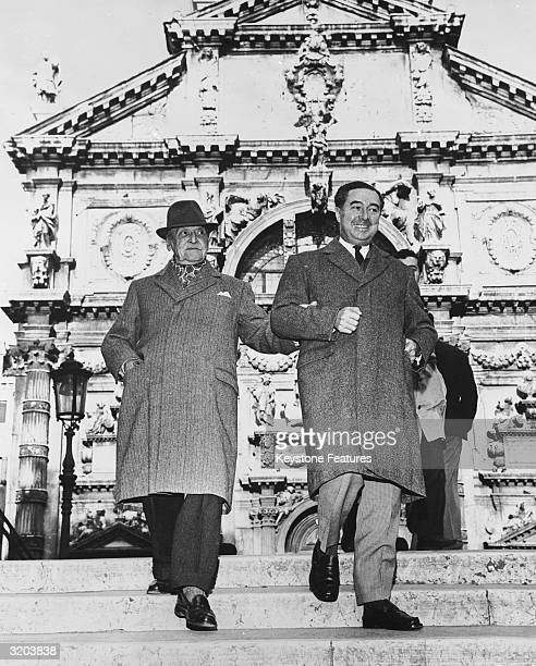 Somerset Maugham in Venice with his secretary Alan Searle