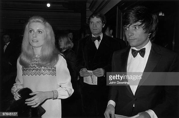 David Bailey with his wife the French actress Catherine Deneuve at the premiere of 'Casino Royale'