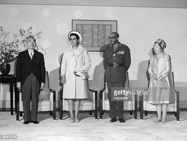 The King and Queen of Afghanistan pay a weeklong state visit to Japan Original Publication From left to right Emperor Hirohito Queen Homaira King...