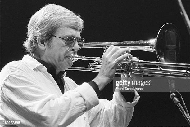 14th AUGUST 14TH: American jazz musician Bob Brookmeyer performs at the NOS Jazz festival at de Meervaart in Amsterdam, Netherlands on 14th August...