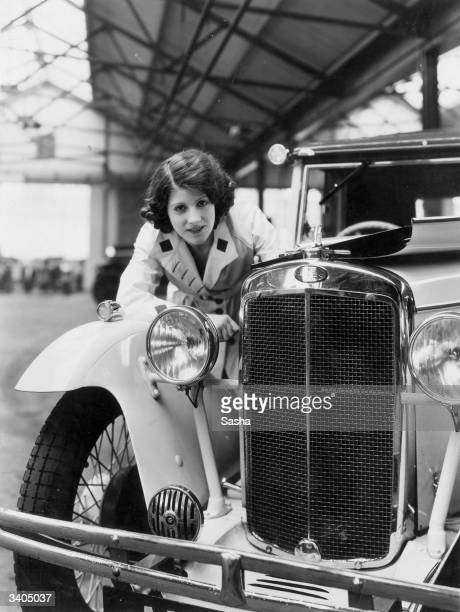Female motorist Paddie Naismith, occasional chauffeur for Prime Minister Ramsay MacDonald, organiser of the National Government Campaign's...