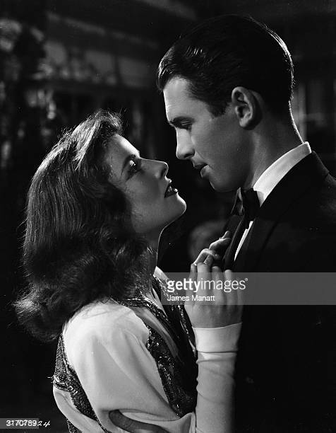 Katharine Hepburn and James Stewart play a spoilt heiress and the reporter sent to cover her wedding in 'The Philadelphia Story', directed by George...