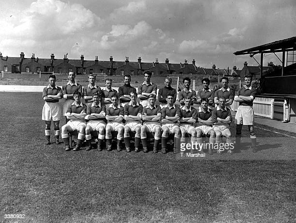 Leyton Orient FC soccer players left to right top to bottom Evans Blizzard Facey Jackett Welton Pacey Groombridge Davies Lusted James Burgess Earl...