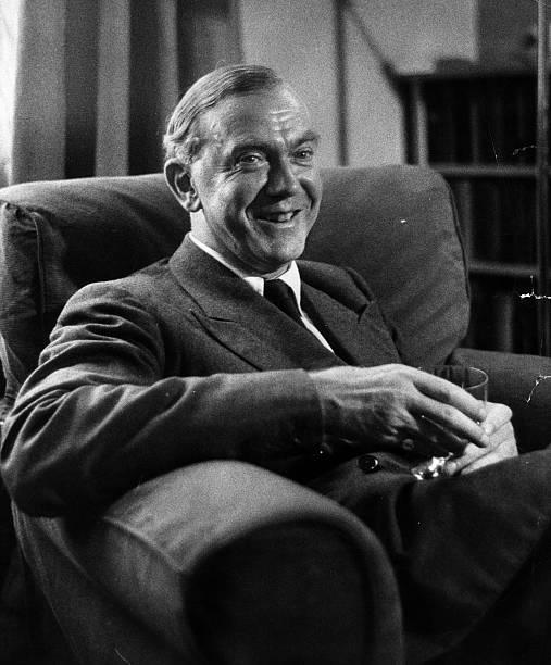 English novelist and playwright Graham Greene . Original...