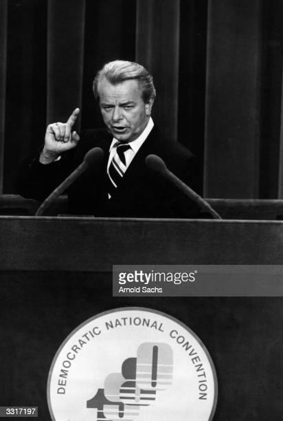 US Senate Majority Leader Robert C Byrd at the Democratic National Convention
