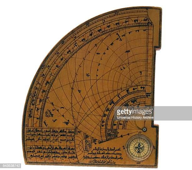 14th Century astrolabic quadrant the instrument combines Islamic design and French astronomical values Dated 14th Century