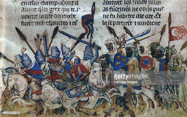 The Siege of Antioch during the First Crusade ca 1200 Found in the collection of the Bibliothèque Nationale de France