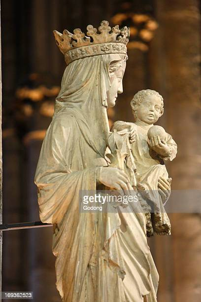 14th century Virgin and Child in Notre Dame cathedral