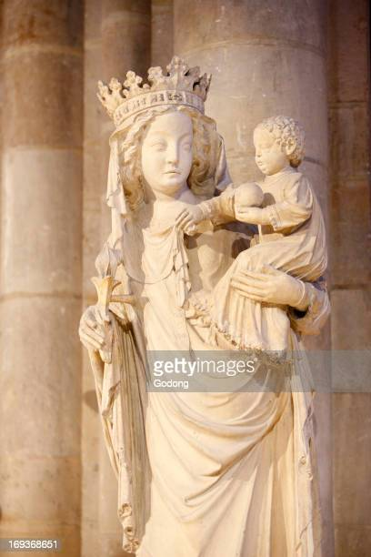 14th century Virgin and Child in NotreDame de Paris cathedral