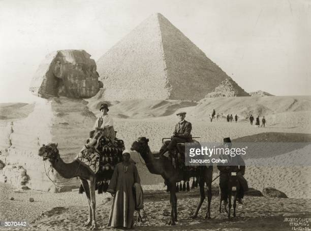Mr and Mrs John ChatworthMusters on a camel trip to see the Sphinx and pyramids