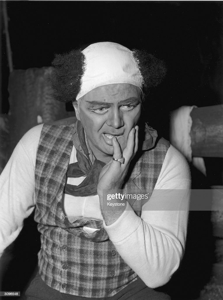Canadian opera singer Jon Vickers during rehearsals for his role as Canio in Pagliacci at Covent Garden.