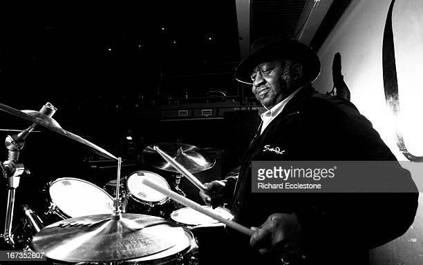 American drummer Bernard Purdie posed at the Jazz Cafe in London on 14th December 2007