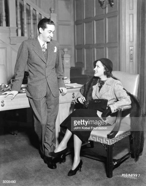 American actress Gloria Swanson with producer Irving Thalberg