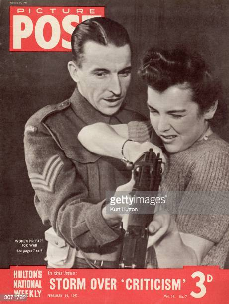 Sergeant Tearne from Canada teaches a member of a newlyformed Women's Home Defence Unit how to use a firearm This unofficial movement was founded by...