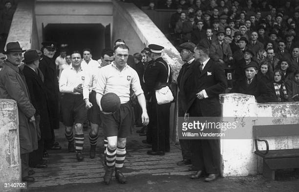 Bill Shankly leading out Preston North End Football Club He later became manager of Liverpool Football Club