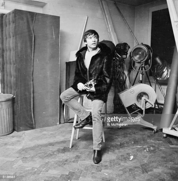 Photographer David Bailey in the studio