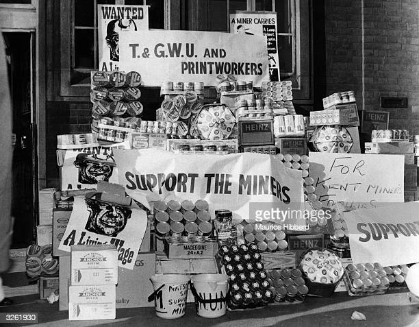 Donations of food to Kent coal miners during a strike