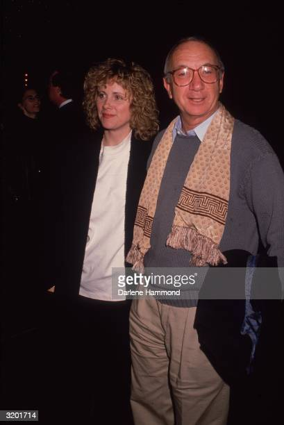 American playwright Neil Simon and wife Diane Lander at a screening of American director Bob Rafelson's film 'Mountains of the Moon' at the...