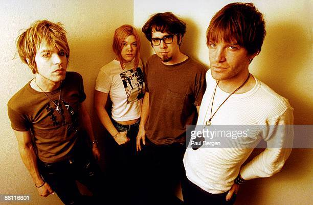American group The Dandy Warhols posed in the Netherlands on 14th February 1998 Left to right Peter Holmstrom guitar keyboard player Zia McCabe...
