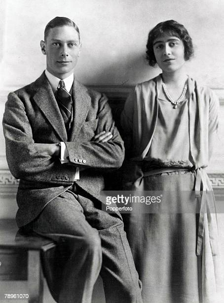 14th January 1923 King George VI and Queen Elizabeth pictured together around the time of their engagement