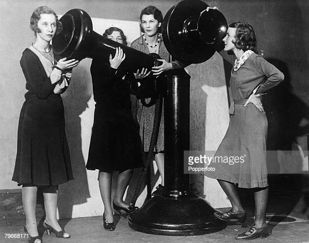 USA 14th January 1931 The largest telephone in the world which stands over six feet high constructed by the Bell telephone company of Pennsylvania...
