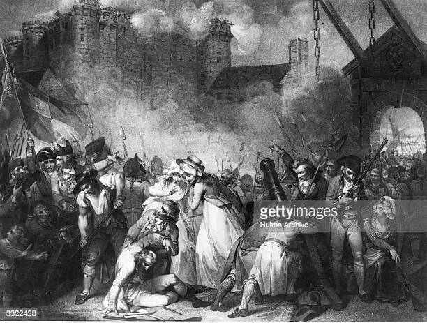 French troops capturing the Bastille during the French Revolution The prison represented the hated Bourbon monarchy and Bastille day is now...