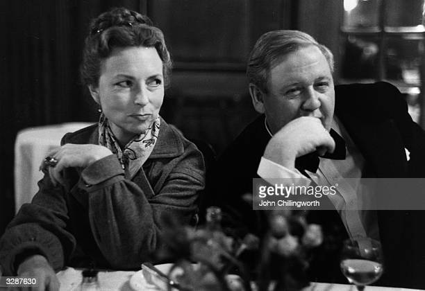 Charles Laughton the English born American film star with Agnes Moorehead with whom he appears in 'Don Juan in Hell' Original Publication Picture...