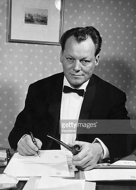 German politician, Willy Brandt, as candidate for the post of Federal Chancellor.
