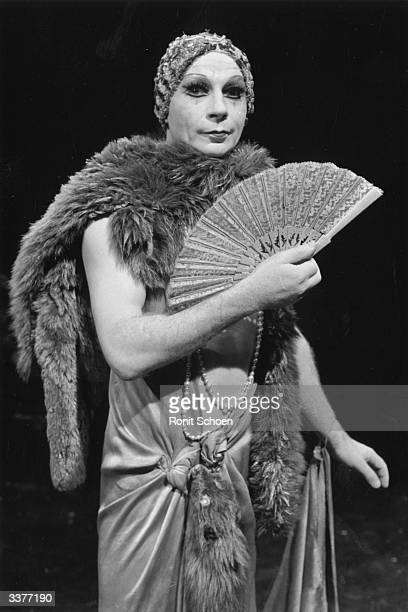 Scottish mime artist and dancer Lindsay Kemp appearing in the play 'Flowers' which is based on the work of Jean Genet Kemp who was born on the Isle...