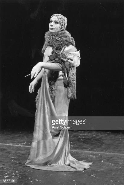 Scottish mime artist and dancer Lindsay Kemp appearing in the play 'Flowers'