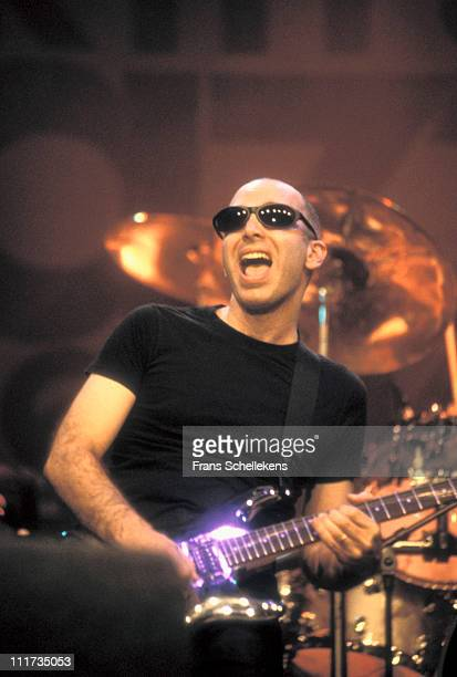 14th JULY: Guitar player Joe Satriani performs live on stage at the North Sea Jazz festival in the Congresgebouw, The Hague, Netherlands on 14th July...