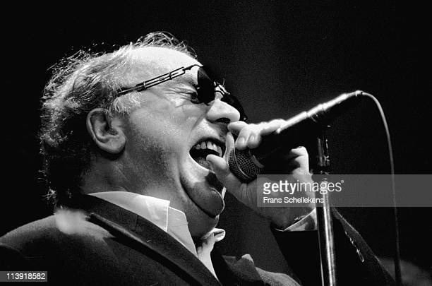 14th JULY: singer Van Morrison performs live on stage at the North Sea Jazz festival in the Congresgebouw, The Hague, Netherlands on 14th July 1996.