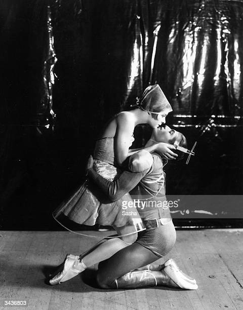 RussianFrench dancer and choreographer Serge Lifar and classical Russian ballerina Alice Nikitina performing the Russian ballet 'La Chatte' at His...