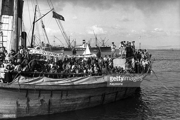 The Haviva Reik carries 462 Jewish refugees to Palestine It broke down 120 miles from Palestine and had to be towed for 12 days to Haifa arriving 8th...