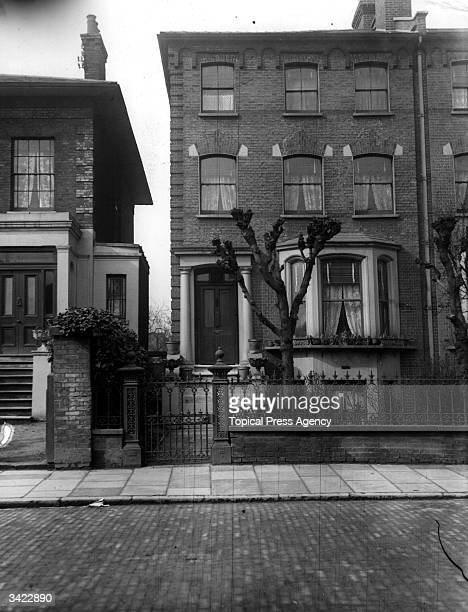The house at 63 Tollington Park Islington where Frederick Henry Seddon poisoned his lodger Miss Eliza Barrow in September 1911 He and his wife were...