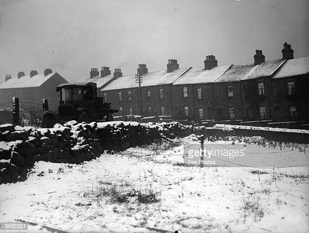 A blanket of snow covers Barnsley South Yorkshire