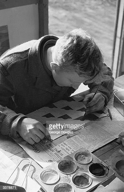 A 19yearold Army recruit is given training through special preliminary education courses at Aldershot training camp to improve his reading age...