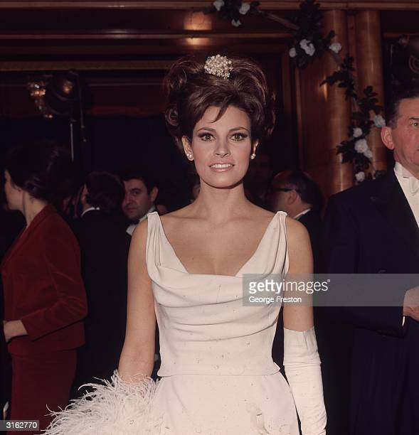 American actress Raquel Welch at a Royal Film performance.