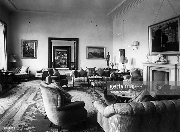 The large sitting room at the German embassy in Carlton House Terrace London
