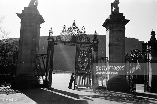 An ornate gateway which opens onto the path up to Edinburgh Rock where the famous castle is situated Edinburgh Castle became a royal residence when...