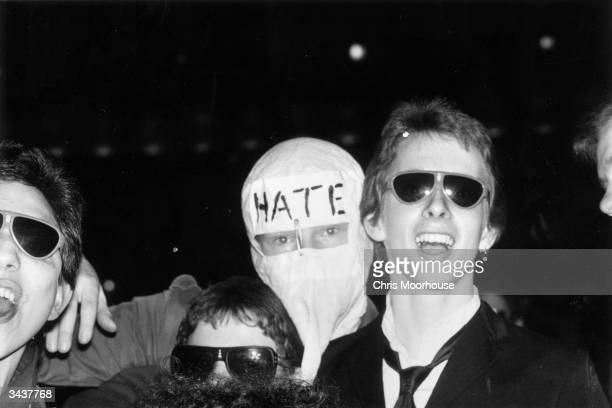 Punk rock fans at the Rainbow London during a gig by bands The Jam and The Clash