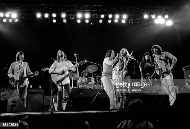 14th MAY: Photo of EAGLES and Linda RONSTADT and Jackson BROWNE and Joe WALSH and Randy MEISNER and Don HENLEY; L-R Randy Meisner, Dan Fogelberg, Don...