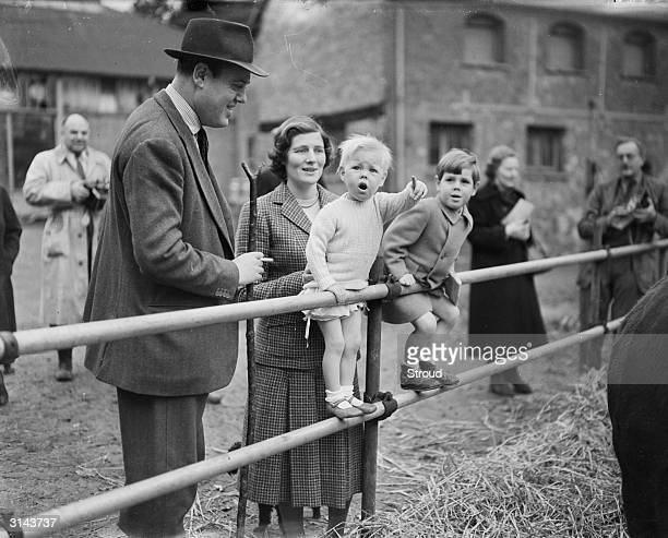 British Conservative politician and Leader of the House of Lords Christopher Soames with his wife Mary and their sons Mary is the daughter of prime...
